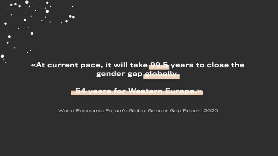 99 years to close the gender gap according to World Economic Forum is not acceptable. Armed with facts and data, we believe we can transform our workplaces and change the status quo.