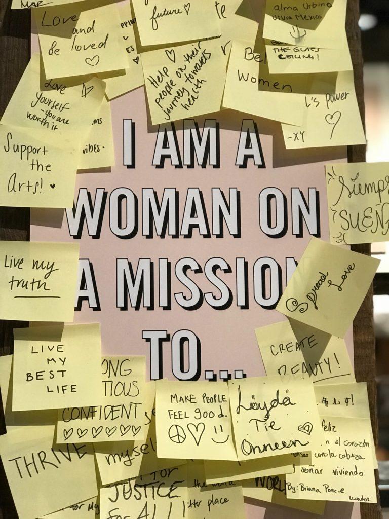 women vision board