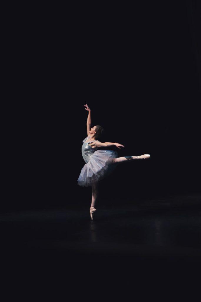 ballerina in perfect balance