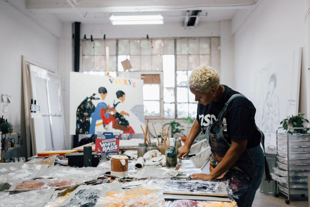 women painter
